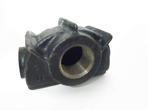 Adaptador em Ferro Fundido, roscado, para Serpentina, Válvula