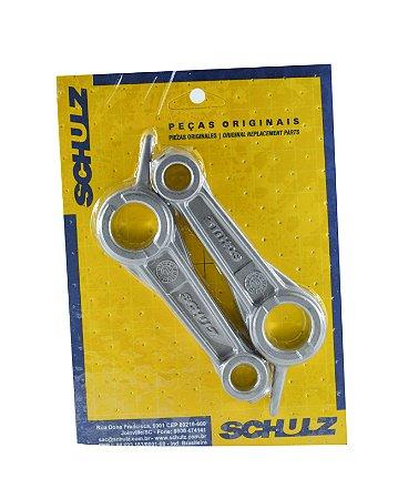 Conjunto Biela em Alumínio com 2 peças Colo Inferior 22mm e Colo Superior