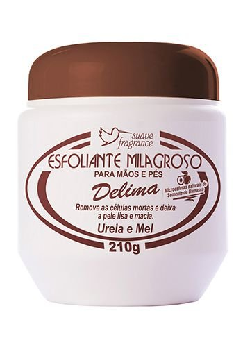 Esfoliante Hidratante Delima 250g Mãos E Pés Suave Fragrance