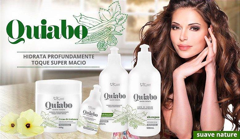 Kit Quiabo Hidratação Suave Fragrance Para Cabelos Secos