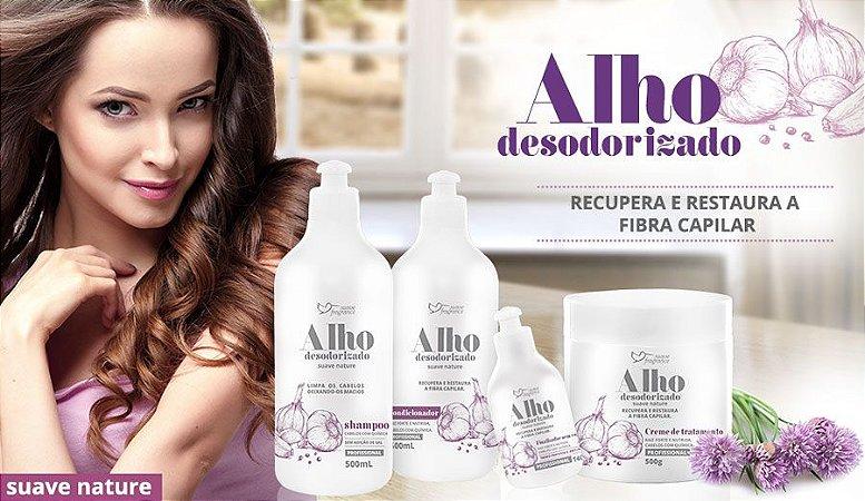 Kit Alho Desodorizado Suave Fragrance P/ Cabelos Com Químicas