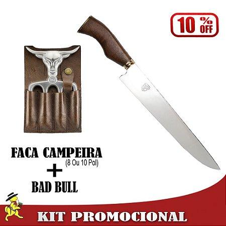 Kit Faca Campeira + Bad Bull