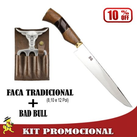 Kit Faca Tradicional + Bad Bull