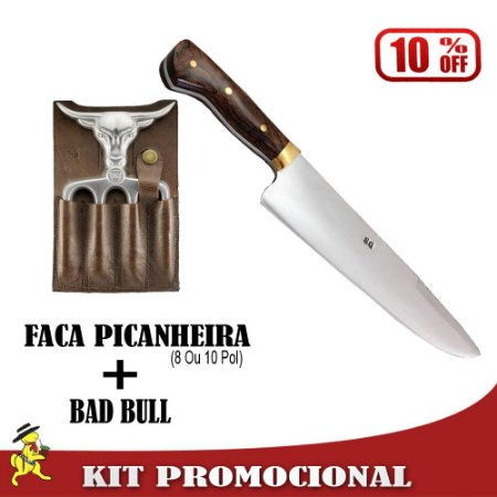 Kit Faca Picanheira + Bad Bull