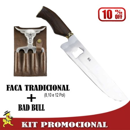 Kit Faca Abridor + Bad Bull