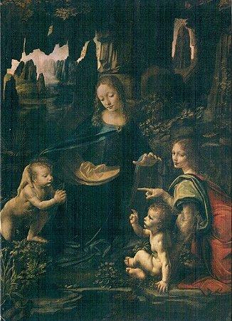 Cartão The Virgin of the Rocks