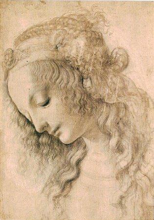 Cartão Head of a Woman number 428 E