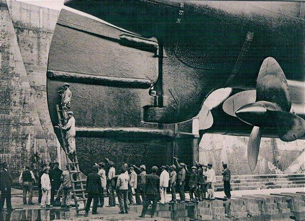 Cartão R.M.S Mauretania, Cherbourg, France 1924