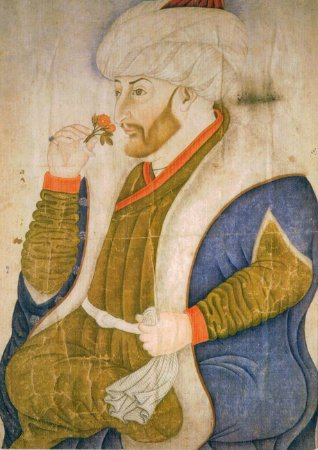 Cartão Portrait of sultan Mehmet II