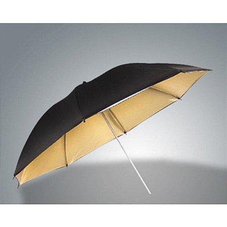 Sombrinha - Preta e Dourado - 105 CM