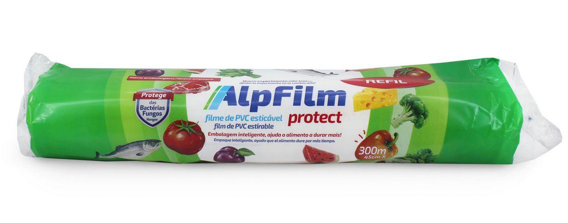 Combo Protect Refil G Tamanho Família  - (4 unidades Refil de Filme PVC para Caixa Trilho Semiprofissional - 45cm x 300m)