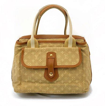 a780f132955 Bolsa Louis Vuitton mini Lin beige - brechodadiretoria
