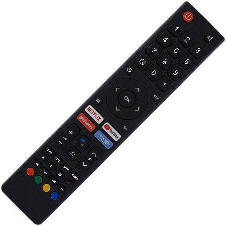 Controle Remoto TV LED Philco PTV55G71AGBLS com Teclas Netflix Prime Vídeo