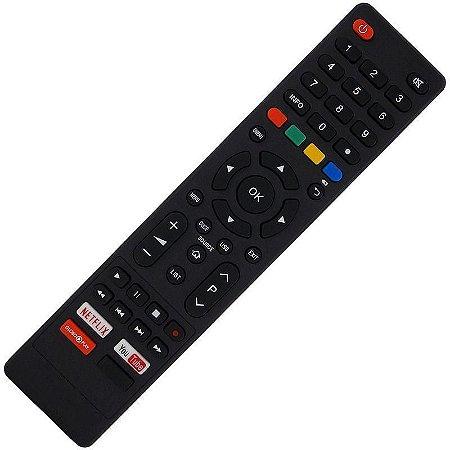 Controle Remoto TV LED Philco PTV55F62NC com Netflix / Youtube / Globo Play