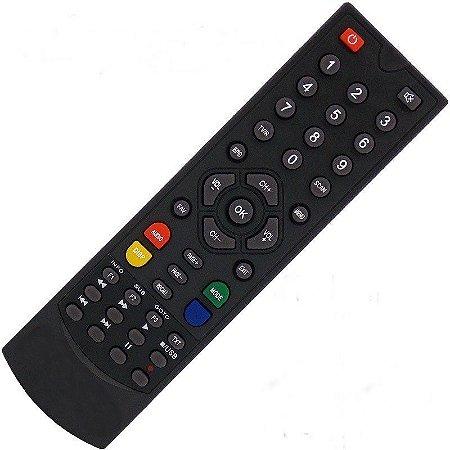 Controle Remoto Receptor Globalsat Gs120 Plus HD