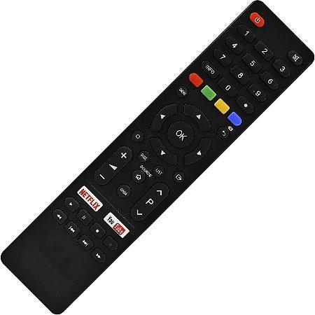 Controle Remoto TV LED Britania BTV32G51SN / BTV40E63SN com Netflix e Youtube (Smart TV)