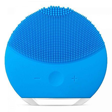 Escova Limpeza Facial Massageadora Esfoliação Recarregável - Azul