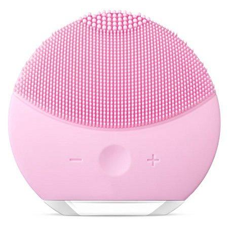 Escova Limpeza Facial Massageadora Esfoliação Recarregável - Rosa