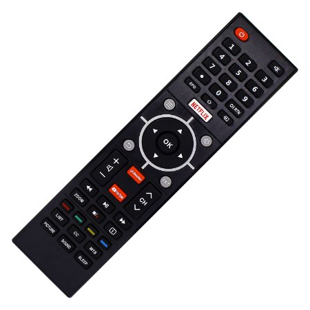 Controle Remoto TV Semp CT-6840 com Netflix / Youtube / GloboPlay (Smart TV)