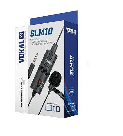 Microfone De Lapela Cabo 6m Vokal Slm10 Para Celular Live