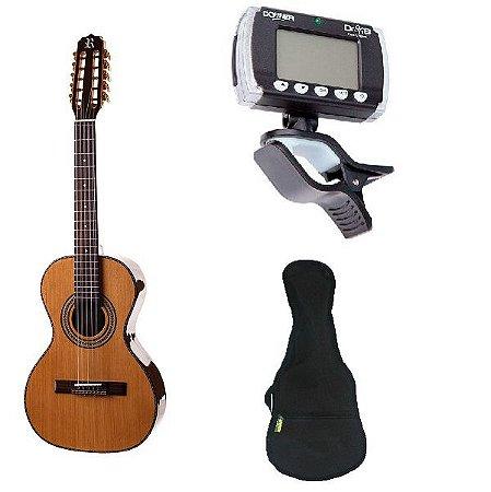 Kit Viola Rozini Cinturada Presença Brasil - Acústica - Modelo RV215 AC.N.LP