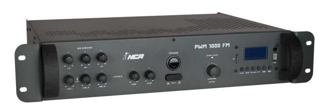 Potência com pré-embutido mono - PWM1000 FM