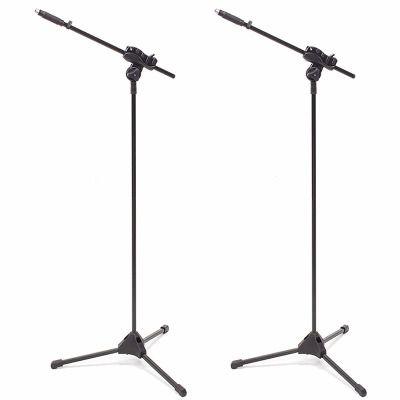 Kit 2 Pedestal P/ Microfone Suporte Girafa Tripe