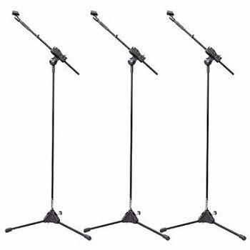 Kit 3 Pedestal Suporte Girafa Para Microfone