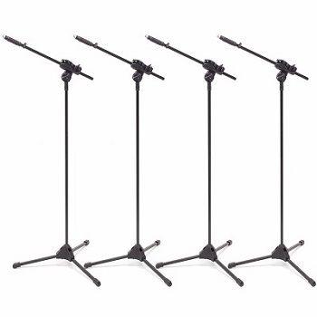 Kit 4 Pedestal Suporte Girafa Para Microfone