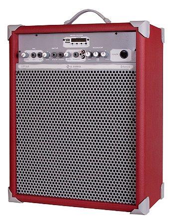 Caixa de Som Amplificada Multiuso UP!10 FM/USB/BLUETOOTH - Vermelha