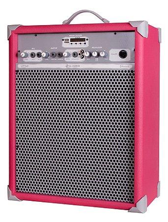 Caixa de Som Amplificada Multiuso UP!10 FM/USB/BLUETOOTH - Rosa
