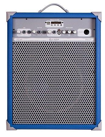 Caixa de Som Amplificada Multiuso UP!10 FM/USB/BLUETOOTH - Azul