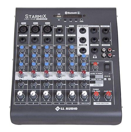 Mesa de Som Linha Starmix XMS XMS602R 6 CANAIS