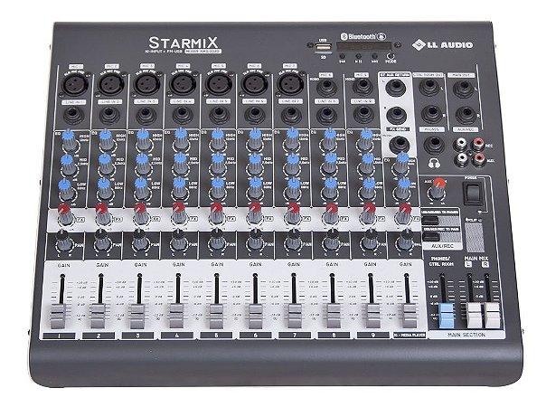 Mesa de Som Linha Starmix XMS XMS1002D 10 CANAIS