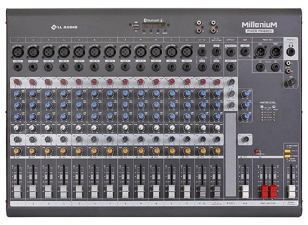 Mesa de som linha Millenium mx1602D com efeito e Phantom power 48v