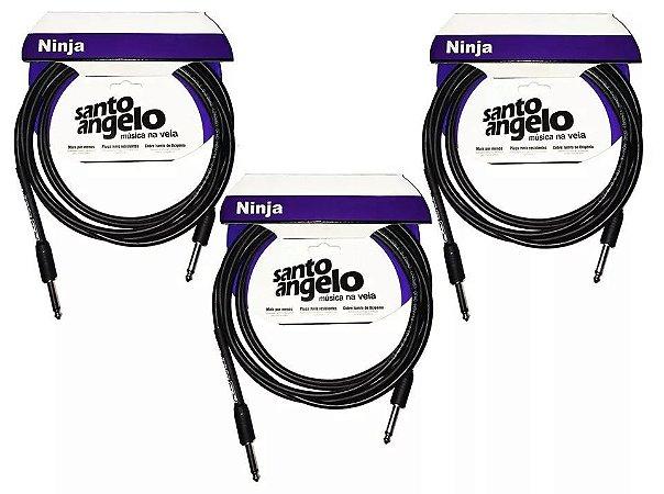 Kit 3 Cabos P10 / P10 Ninja Santo Angelo 3 Metros