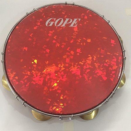 "Pandeiro GOPE 11"" Holográfico 644PECR Vermelho"