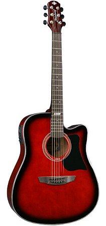 Violão Strinberg Eletroacústico Aço Folk AF65C Vermelho