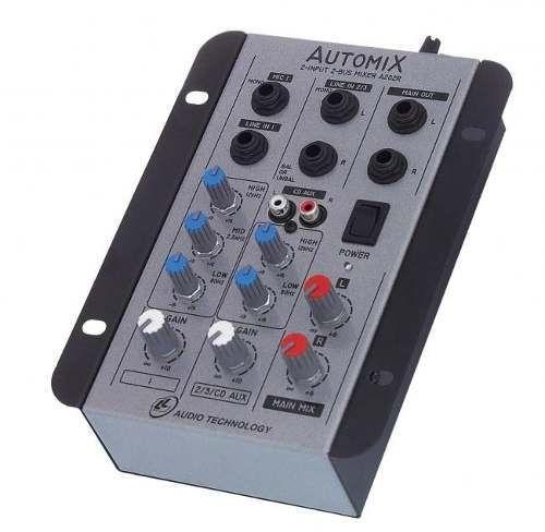 Mesa de som - Mixer Automix LL A202R - 2 Canais - 12 Volts