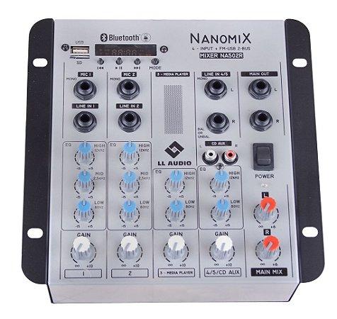 Mesa de som LL Nanomix NA502R BT - com gravação