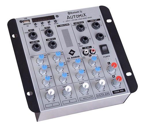 Mesa de som LL Automix A502R 12V 5 canais BT