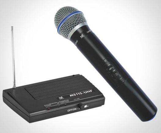 Microfone de mão sem fio TSI - MS115 UHF