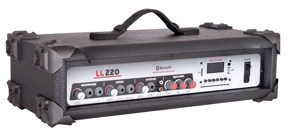 Cabeçote Multiuso Amplificado LL220 BT/ Bluetooth/ USB/ SDCARD/ AM-FM