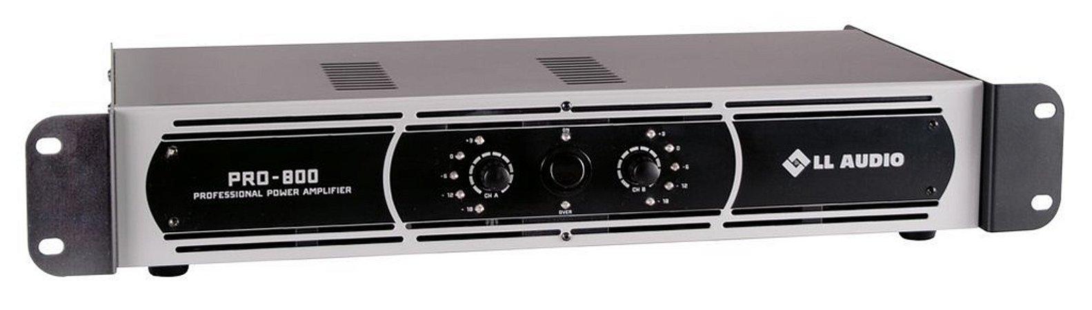 Amplificador de Potência LL AUDIO - PRO 800