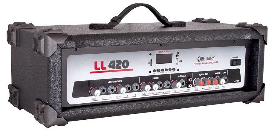 Cabeçote Multiuso Amplificado LL420 BT/ Bluetooth/ USB/ SDCARD/ AM-FM