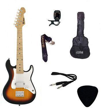 Kit Guitarra Infantil PHX Strato Juvenil IST1 Sunburst Capa/ Afinador/ Cabo/ Correia/ Palheta