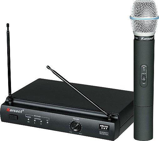Microfone De Mão S/ Fio Karsect Uhf - Kru 301