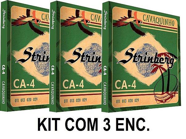 Kit com 3 Encordoamentos Strinberg para Cavaco