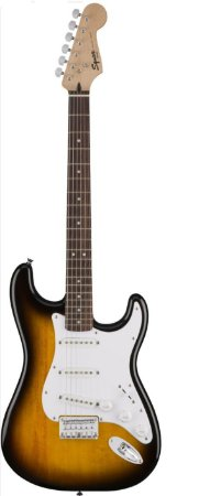 Guitarra Fender Squier Bullet Stratocaster BROWN SUNBURST 3 SINGLES