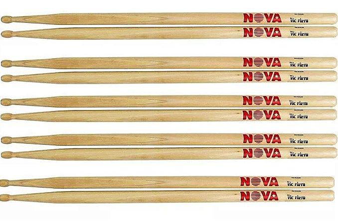 Baqueta Nova By Vic Firth 5A - Kit com 5 pares